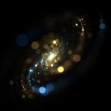 星系Bokeh分数维 库存照片