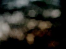 星bokeh在黑背景中 库存照片