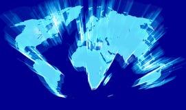 映射世界例证 免版税图库摄影