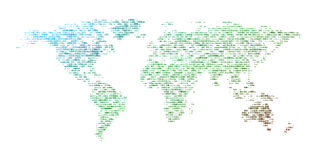 映射世界 免版税图库摄影