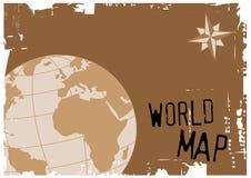 映射世界 免版税库存照片