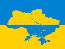 映射乌克兰 免版税库存照片