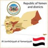 映射也门 库存例证