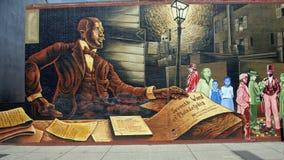 映射勇气`的`由威利斯`野茂` Humprey,南大街,费城 免版税库存图片