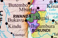 映射卢旺达 皇族释放例证
