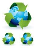 映射回收符号世界 图库摄影