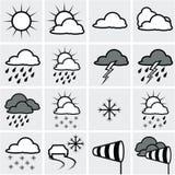 映射天气 库存照片