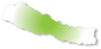 映射尼泊尔 免版税库存照片