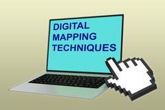 映射技术概念的数字式 免版税库存图片