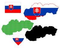 映射斯洛伐克 免版税库存照片