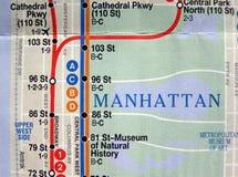 映射新的地铁约克 免版税库存照片