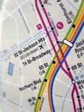 映射新的地铁约克 库存照片