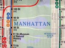 映射新的地铁约克 免版税图库摄影