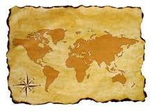 映射旧世界 免版税库存图片