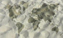 映射沙子 免版税库存图片