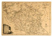 映射波兰葡萄酒 免版税库存图片