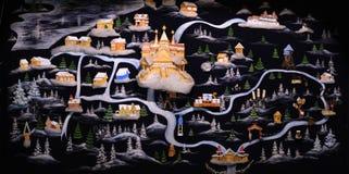 映射理想国,圣诞老人伟大的Ustug的家 库存图片