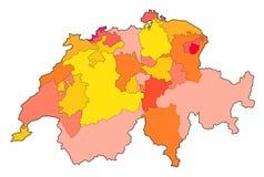 映射瑞士 向量例证