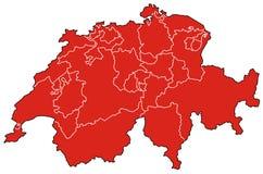 映射瑞士 免版税库存照片