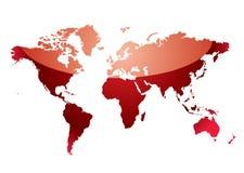 映射红色反射世界 向量例证