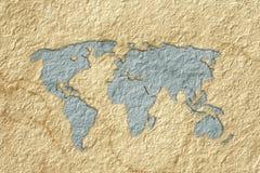 映射纸世界 免版税库存照片