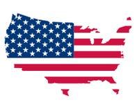 映射美国 库存图片