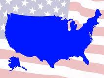 映射美国 免版税库存照片