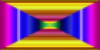 映象点五颜六色的正方形样式 免版税库存图片