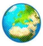 映象点地球地球被隔绝的传染媒介 库存图片