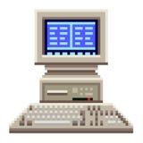 映象点老计算机传染媒介 库存照片