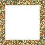 映象点马赛克在减速火箭的&#x28的正方形框架; vintage)无言颜色 库存图片