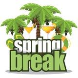 春假被隔绝的棕榈树 免版税库存图片