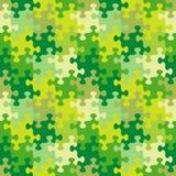 春天、夏天或者伪装颜色的无缝的七巧板样式 向量例证