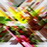 春天五颜六色的抽象三角背景 库存照片