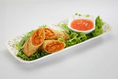 春天劳斯用辣味番茄酱 免版税库存图片