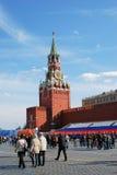 春天和劳动节庆祝在俄罗斯 免版税库存图片