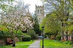 春天在伊顿,英国 免版税图库摄影