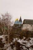 春天在俄国村庄 免版税库存图片