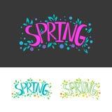 春天在商标集合上写字 图库摄影