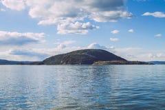 春天在奥斯陆, Norvegia 看法strets,自然在奥斯陆 库存图片