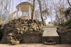春天在文化中央公园和休息在辛菲罗波尔(克里米亚) 库存照片