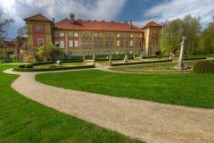 春天在Lancut公园在波兰 库存图片