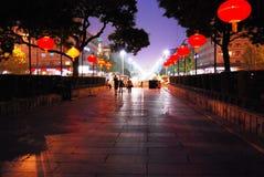 春天夜在西安 免版税库存图片