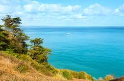 春天大西洋海岸线风景(法国) 图库摄影