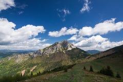 春天山-大Rozsutec小山,一点Fatra,斯洛伐克 免版税库存照片