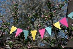 春天庆祝横幅 图库摄影