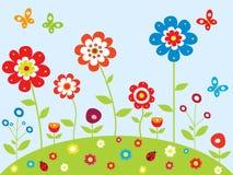 春天庭院 库存图片