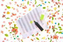 春天收入税金计算 免版税库存图片