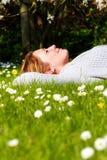 春天放松 免版税库存照片