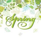 春天构成 叶子,分支 季节性 向量例证